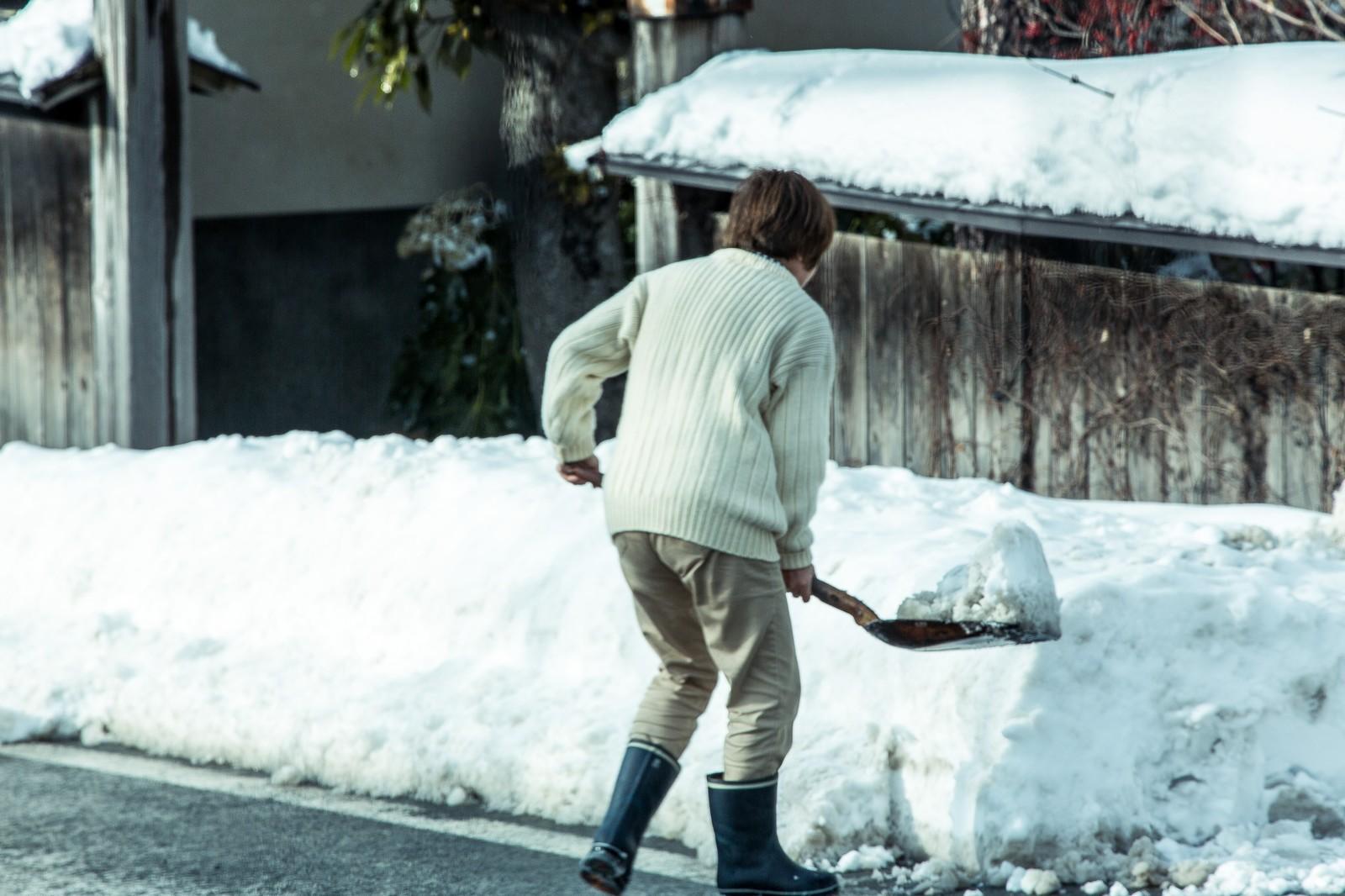 軽トラで除雪するには